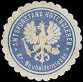 Siegelmarke Amtsvorstand Hötensleben Kreis Neuhaldensleben W0382973.jpg