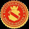 Siegelmarke Stadtgemeinde Baden-Baden W0313352.jpg