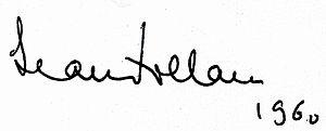 Jean Follain - Signature of Jean Follain