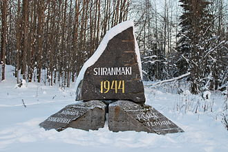Vyborg–Petrozavodsk Offensive - Memorial in Siiranmäki