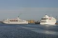 Silver Cloud(right) and Astor(left) entering their berths in Dublin Port - Flickr - D464-Darren Hall.jpg