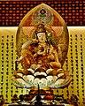 Singapore Buddha Tooth Relic Temple Innen Hintere Gebetshalle 5.jpg