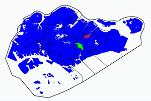 Singaporean general election, 2001 - Image: Singapore election 2001 results