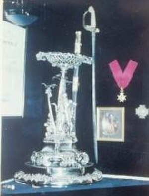 Henry William Bruce - Sir Henry William Bruce silver plate and sword in Bruce Neuk at the Britannia Yacht Club in Ottawa, Ontario