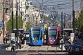 Six tramway en parallèle à Reims (inauguration).JPG