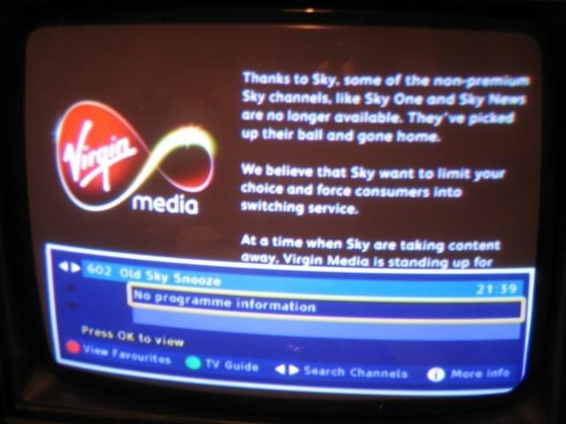 Sky News Virgin EPG