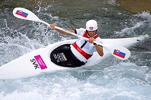 Slalom canoeing 2012 Olympics W K1 SVK Jana Dukátová.jpg