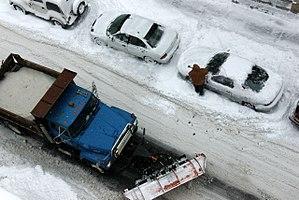 Snow emergency - A snow emergency in Minneapolis.