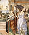 Sodoma - Life of St Benedict, Scene 19 - Benedict Sends away the Harlots (detail) - WGA21578.jpg