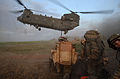 Soldiers of Somme Company, 1st Lancs Wait to Board a Chinook in Afghanistan During Op Tor Shezada MOD 45151694.jpg
