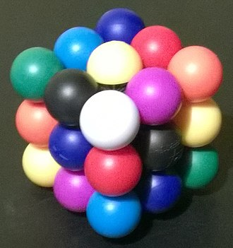 Nine-Colour Cube - Meffert's Molecube in its solved state.