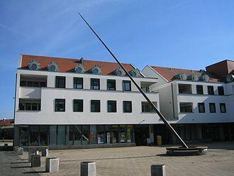 Amtzell - A large horizontal sundial in Amtzell.