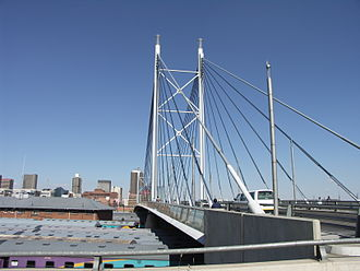 Braamfontein - The Nelson Mandela Bridge.