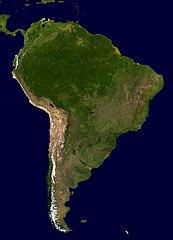 Satellitenfoto von Südamerika