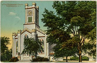 Southampton (village), New York - First Presbyterian Church, Main Street, Southampton, New York