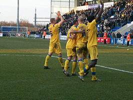 Southend Players taunt colchester fans.jpg