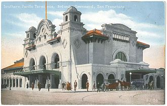 San Francisco 4th and King Street Station - Southern Pacific's 3rd and Townsend terminal was replaced in 1975 by the current station.