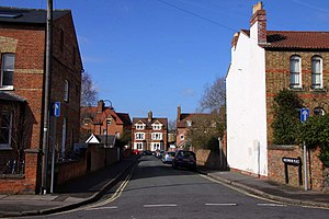 Kingston Road, Oxford - Southmoor Place at its junction with Kingston Road.