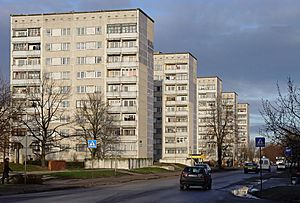 Liepāja - Soviet-era apartment blocks in Liepāja