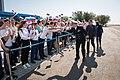 Soyuz MS-06 backup crewmembers at the airport in Baikonur.jpg