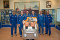Soyuz TMA-10M prime and backup crews in the Korolev Museum.jpg