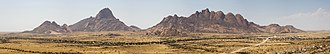 Spitzkoppe - Panorama of Spitzkoppe and the mountains around