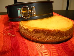 Springform pan - Pan with finished cheesecake