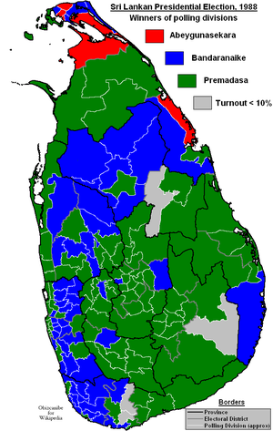 Sri Lankan presidential election, 1988 - Image: Sri Lankan Presidential Election 1988