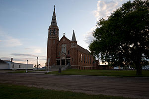 National Register of Historic Places listings in Emmons County, North Dakota - Image: St. Mary's Church Hague