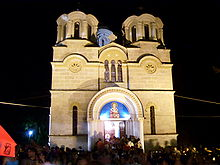 St Athanasius in Lešok at night