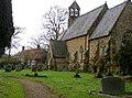 St Luke's church with school beyond - geograph.org.uk - 1727898.jpg