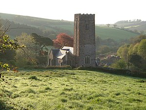 Ashcombe - The church of St. Nectan in Ashcombe