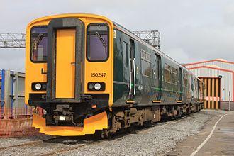St Philip's Marsh depot - GWR 150247 outside the wheel lathe at Marsh Junction