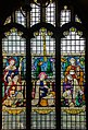 Stained glass window, St Lawrence church, Hawkhurst (15289071632).jpg