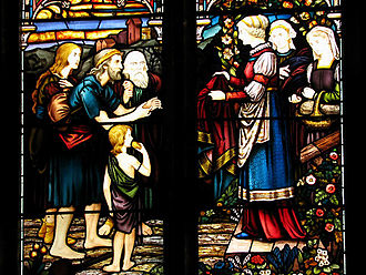 Hingham, Norfolk - East window, St Andrew's Church, Hingham, one of the largest such windows in England, contains stained glass from a German monastery