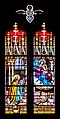 Stained glass window of the Collegiate Church of Our Lady of Quezac 06.jpg