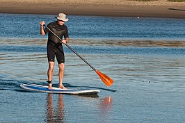 Stand-up paddle surfer
