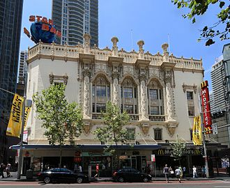Plaza Theatre (Sydney) - George Street facade of the former Plaza Cinema