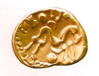 Lieshout - The gold Ambiani stater found in Lieshout in 1999
