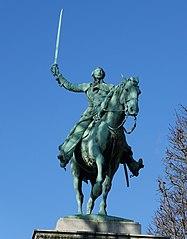 equestrian statue of La Fayette