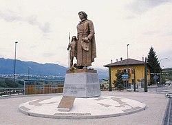 Statue of Padre Kino at his native village of Segno (Trent) - unveiling day.jpg