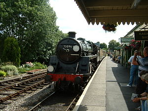 BR Standard Class 5 73096 - 73096 arriving at Alton station