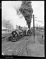 Steam Locos at Paekakariki K 924 and KA 954 belching smoke. PHOTOGRAPHER Unknown DATE 1953.jpg