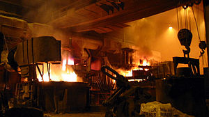 Steel mill - Interior of a steel mill
