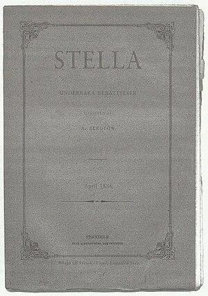 Stella (Swedish magazine) - Supposed cover.