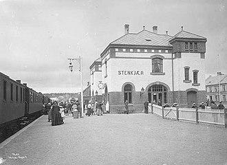 Steinkjer Station - Steinkjær station in 1907.