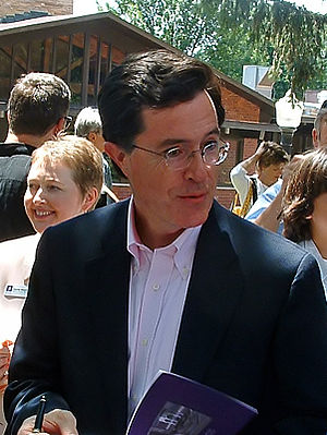 Stephen Colbert presidential campaign, 2008 - Stephen Colbert at Knox College.