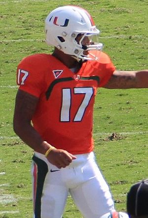 Stephen Morris (American football) - Morris with the Miami Hurricanes in 2012