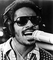 Stevie Wonder performing in 1973