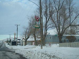 Stockton, Utah - Main Street in winter